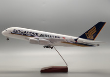A380 Singapore Airlines aircraft model w/Led Lighting 47 cms long