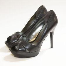 Guess Women's Size 7 Open Toe Pumps Heels By Marciano Belva Black Leather