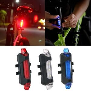 New LED Bicycle Light Bike Cycling USB Rechargeable Tail Lights Safety Rear Lamp