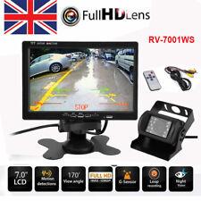 "7"" Car Quad Split CCTV LCD Monitor Screen 4 Display Built-in DVR Video Recording"