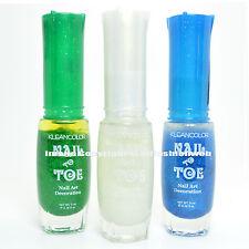 KLEANCOLOR 3 NAIL TOE ART THIN BRUSH GLITTER GREEN BLUE LACQUER POLISH 3ARTSET14