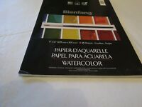 Beinfang 9x12 15 sheets paper watercolor acid free NEW 538 book NOS DAMAGED CVR