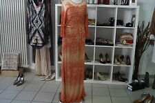 REKEN MAAR-ROBE-ABENDKLEID-PAILLETTENKLEID-ORANGE-COCTAILKLEID-GR:34-NP:319€