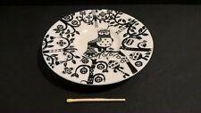 Iittala Taika owl ceramic porcelain white plate 11cm Finland Scandinavian design