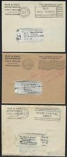 US 1943 WORLD WAR II FIVE WAR & NAVY DEPARTMENT V MAIL COVER WITH 5 AIR GRAPHS