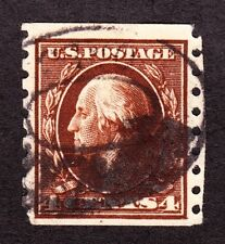 US 395 4c Washington Used VF SCV $70