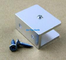 8 Pcs Glass Shelf Clamp Clip Bracket Shelf Support Aluminum 9-12mm Glass Square