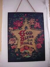 Tenderheart Treasures GOD BLESS OUR HOME Victorian Phrase Metal Sign NEW