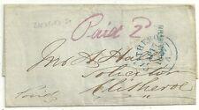 1847 RARE Bradford ST sub po Manchester wrapper à John Hall à clitheroe
