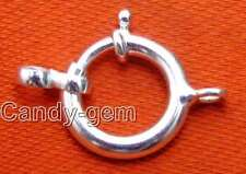 14mm Ring One String Sterling Silver(S925) Clasp for Accessories for Jewelry g82