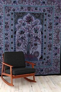 Tree Of Life Tapestry from Urban Outfitters Blue Mediterranean Indian Egyptian