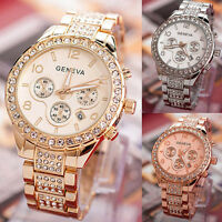 Women Watches Bling Crystal Watches Lady Girl Stainless Steel Quartz Wrist Watch