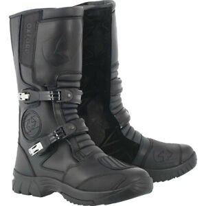 OXFORD EXPLORER MOTORCYCLE LEATHER BUCKLED MOTORBIKE TOURING ADVENTURE BOOTS