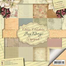 Motivpapier -  Classic Christmas - Amy Design - 24 Bögen 15x15 cm  (ADPP10005)