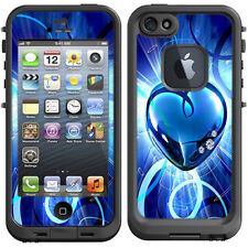 Skin Decal for Lifeproof iPhone 5 Fre Case / Glowing Heart