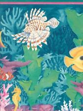 "Large 20.5"" Fish Baseboard Wallpaper Border CTC294B"