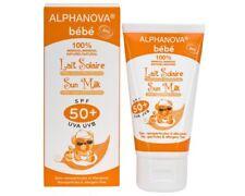 LAIT  SOLAIRE BEBE BIO  SPF 50 + ALPHANOVA  TRES HAUTE PROTECTION 50 GRAMMES