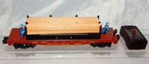 American Flyer 25058 Moe & Joe Lumber Unloading Flatcar Southern Pacific PATENT