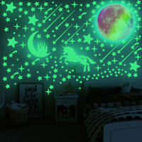 Glow in the Dark Luminous Stars Moon Unicorn Wall Sticker Home Wall Room Decor