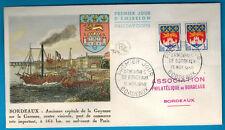 1958 - Enveloppe Illustrée -Guyenne -Armoirie - Bordeaux - Yv.1004/1179/83