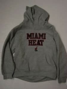 Infant Toddler Boys Kids NBA Gear Miami Heat Grey Pullover Sweatshirt Hoodie