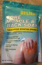 RELIEF MUSCLE & BACK SOAK EUCALYPTUS SCENTED EPSON SALT 16 oz.Pouches 2 pk