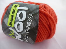 Lana Grossa mcwool Merino Mezcla 100 color 124 Naranja