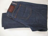 Gustin Mens Blue Straight Raw Selvedge Jeans 31x27.5 USA Made