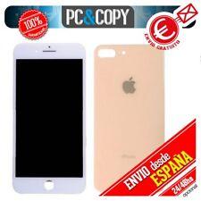 Pantalla LCD Blanca + Tapa trasera bateria Oro iPhone 8 Plus 5,5 Calidad A++