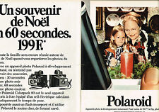 PUBLICITE ADVERTISING 104  1973  POLAROID   Appareil photo COLORPACK 80  ( 2p)