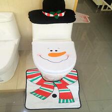 Copri water copriwater+tappeto tappetino gabinetto PUPAZZO neve NATALE bagno