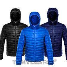 Mens 90% Duck Down Puffer Ultra Light Jacket Winter Down Hooded Coat Outerwear