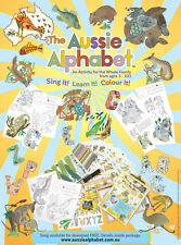 Aussie Alphabet Children Colouring Book ABC Song Kids Family Christmas Gift