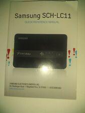 US CELLULAR SAMSUNG SCH-LC11 4G LTE MOBILE HOTSPOT Instruction Booklet