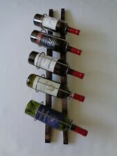 Wine barrel stave wall rack rustic reclaimed authentic hand made