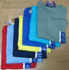 Men's T-Shirt Fruit of The Loom 3XL 8 Pc lot 7 colors 100 % Cotton Navy Moss