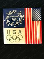 Vintage Collectible Athens 2004 USA Olympic Colorful Metal Pinback Lapel Pin
