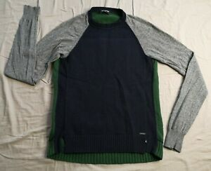 DSQUARED2 Boy's Navy Grey Green Jumper Size 14 Years Good Used Condition