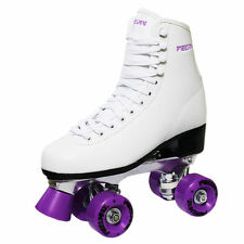 New Freesport Classic Quad roller skates kids Boot Purple Size 12 Child UK 31eu