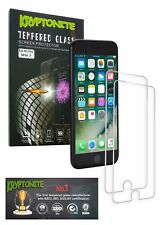 KRYPTONITE iPhone 7 Tempered Glass Screen Protector (2 Pack) Bubble Free