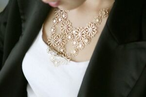 Fashion Gold Camellia Flower Multi-Layer Chain Necklace Girls Women's Gift UK