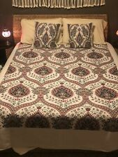 Beautiful Turkish Bed Coverlet, Twin w/ 2 Decorative Pillow Covers