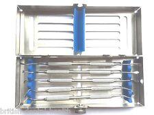 Sinus Lift ascensori CURETTES con sterilizzazione CASSETTA Rack ODONTOIATRIA Lab CE