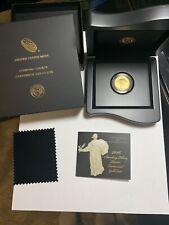 2016 W Standing Liberty Quarter 1/4 Oz. Gold Centennial Coin with COA