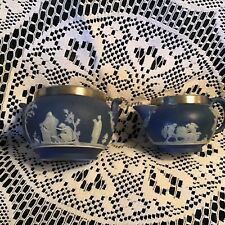 Wedgewood Jasperware Creamer And Sugar