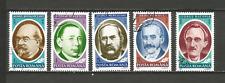 1991 personnages célèbres Roumanie 5 timbres anciens oblitérés /T4338