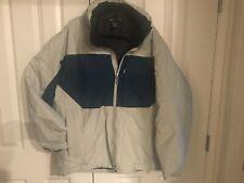Arc'teryx Primaloft Gore Tex Mens XL Jacket Inside Zip Pockets Blue Beige TS9