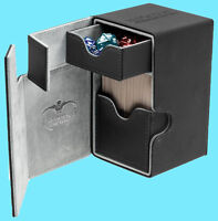 ULTIMATE GUARD FLIP n TRAY BLACK 80+ XENOSKIN DECK CASE Card Box MTG CCG Game