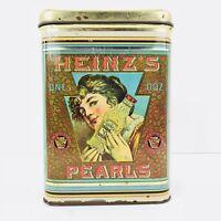 Vintage HEINZ'S PEARLS SQUARE TIN CHEINCO