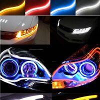 2Pcs LED Strip Flexible Waterproof DRL Daytime Running Light Turn Signal Lamp